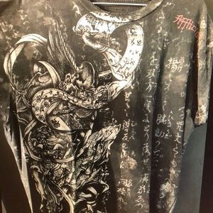 Men's affliction large shirt
